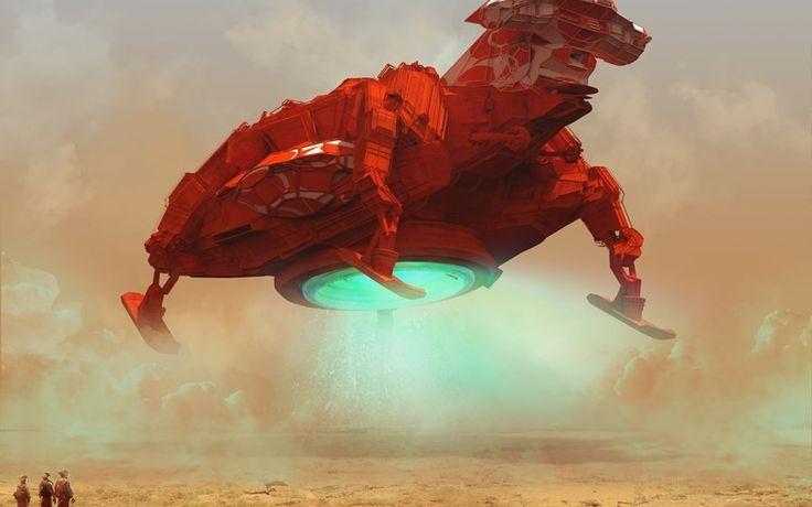 Test Flight the spacecraft fantasy artwork Canvas Wall Poster