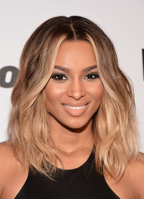 Ciara with mid-length center part  - love
