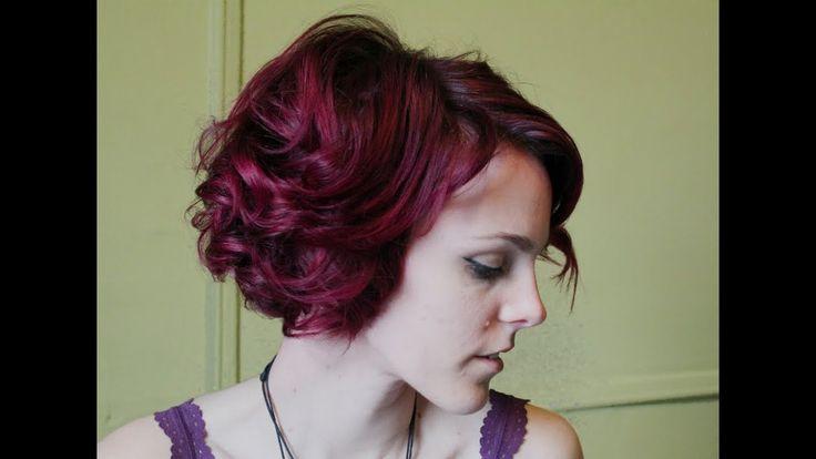 Wie man kurzes Haar für Vintage-Frisuren lockt - YouTube