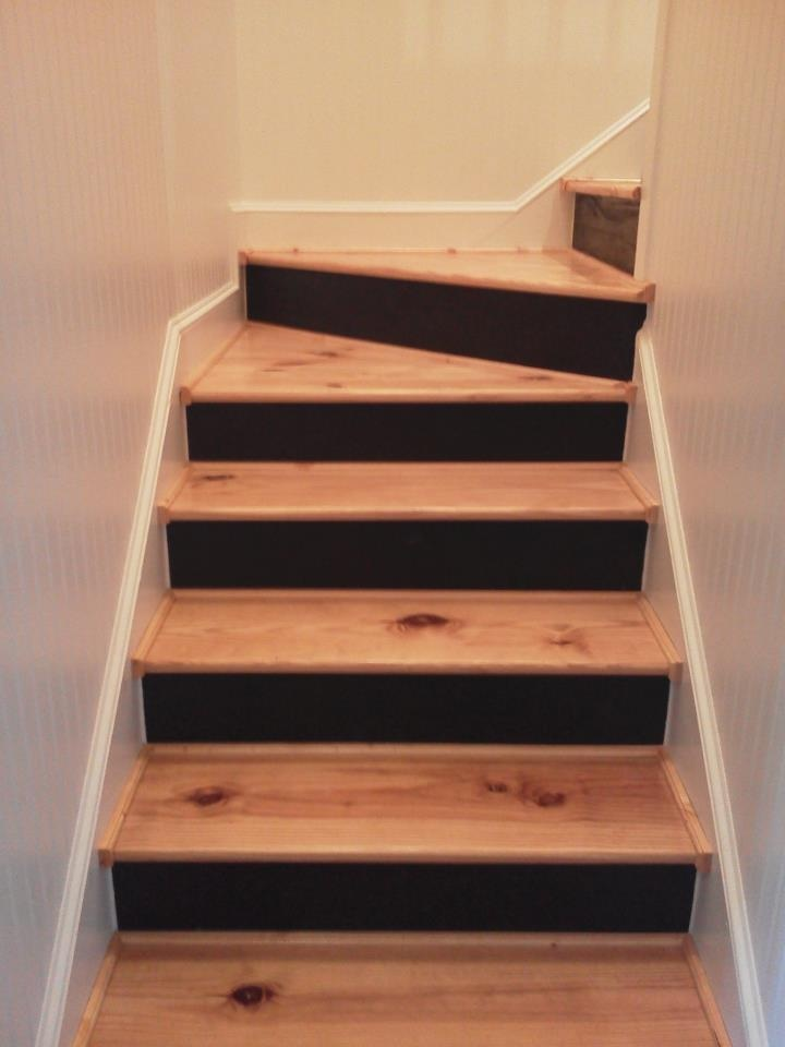 Bead Board Walls Custom Painted And Stained Stairs Jle