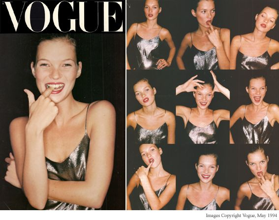 Kate Moss modeled for Edina's very first catwalk show (quite a few years ago!)