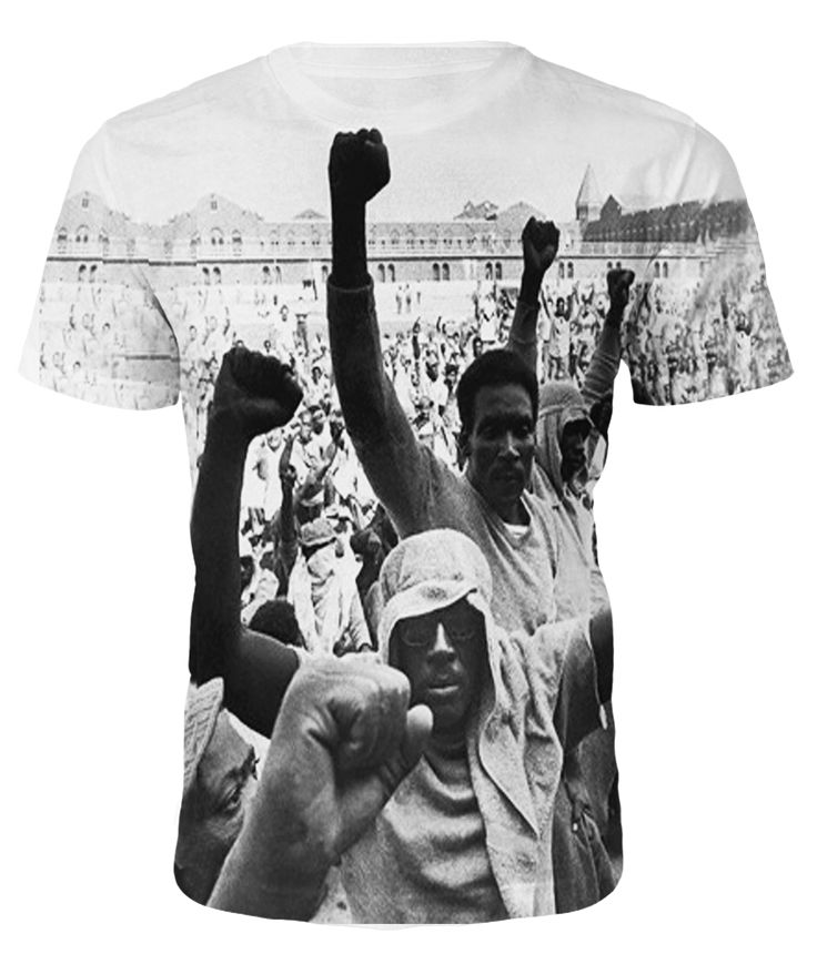 T-Shirt Roots - Attica Prison Riot - Fullprint White