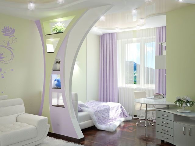 wohnzimmer grün lila:Bedroom Room Divider Ideas for Girls