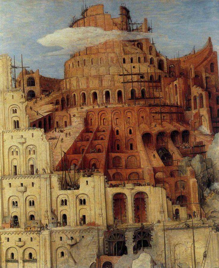 1563 Pieter Bruegel the Elder – The Tower of Babel, Detail top of the Tower