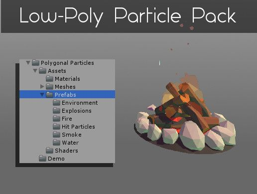 Polygonal's Low-Poly Particle Pack #wishlist | Unity Game Assets in
