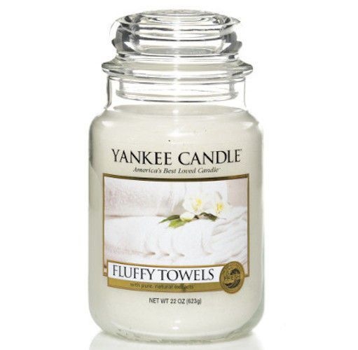 Fluffy Towels - SŁOIK DUŻY Yankee Candle   MARKI \ Yankee Candle ŚWIECE I WOSKI \ YANKEE CANDLE \ Świece w słojach \ Duże słoje (classic) ŚWIECE I WOSKI \ YANKEE CANDLE \ Zapach miesiąca - 20% CHRISTMAS SHOP  