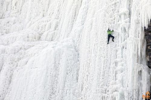 Iceclimber in Korouoma, Lapland