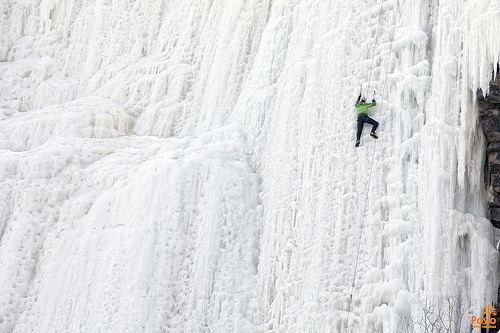 Iceclimber in Korouoma, Lapland