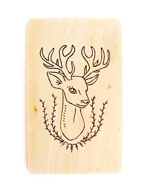 Wood Burned Cutting Board, want this for the deer pattern, although the face looks more like a doe not a buck. May need to tweek this .a little bit