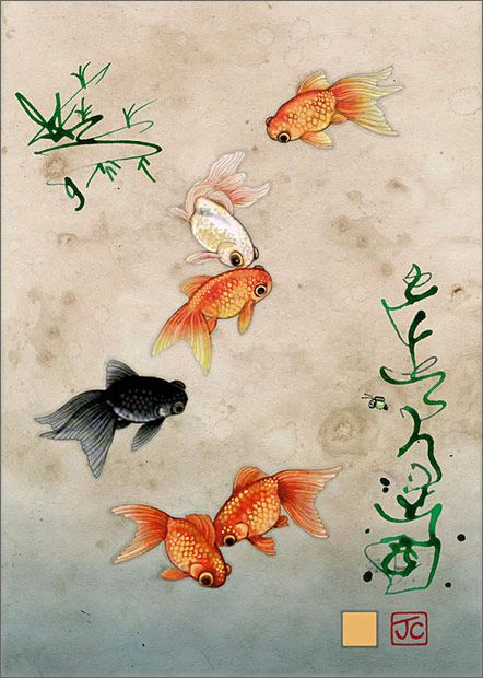 BugArt Paper & Foil ~ Five Fantailed Fish. PAPER & FOIL Designed by Jane Crowther.