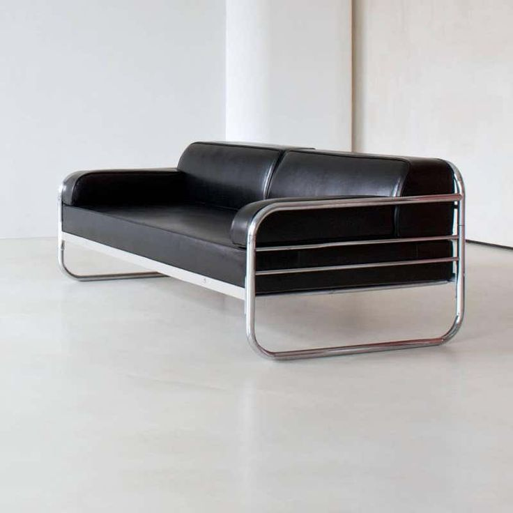 For Sale on 1stdibs - This original German Art Deco - Streamline Couch/ Daybed is restored on request and available in different amounts. Delivery time between 6-8 weeks.