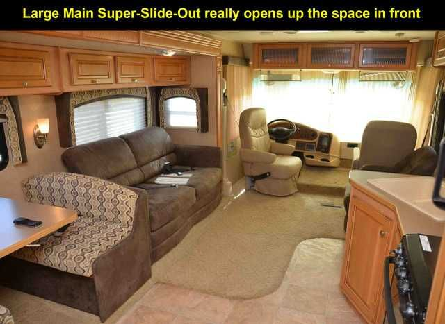2010 Used Damon Daybreak 3576 Class A in California CA.Recreational Vehicle, rv, 2010 Damon Daybreak 3576, Very nice Clean Full-Featured 1- RV with Auto-leveling, 50amp Power, Flat-Screen TVs, Power Awning, the V10 engine high output 362-horsepower version with 3-valve per cyl., Onan 5500 50amp Generator, 2-High-output Ducted-AC units with handheld remotes 3-HUGE-Slideouts, it's designed for bunk beds yet was built with the additional Wardrobe storage upgrade in the Bunk Bed Position (if you…