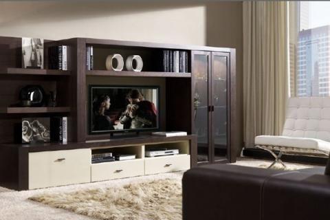 Корпусная мебель в контрастных цветах