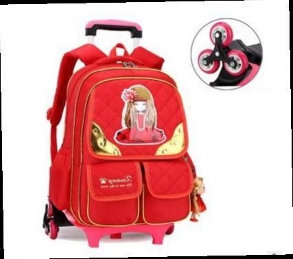 52.55$  Buy now - http://alia3b.worldwells.pw/go.php?t=32778322431 - Brand kids rolling backpack for school Children Travel Trolley Bag on wheels Carton Suitcase Travel Luggage Trolley bag School