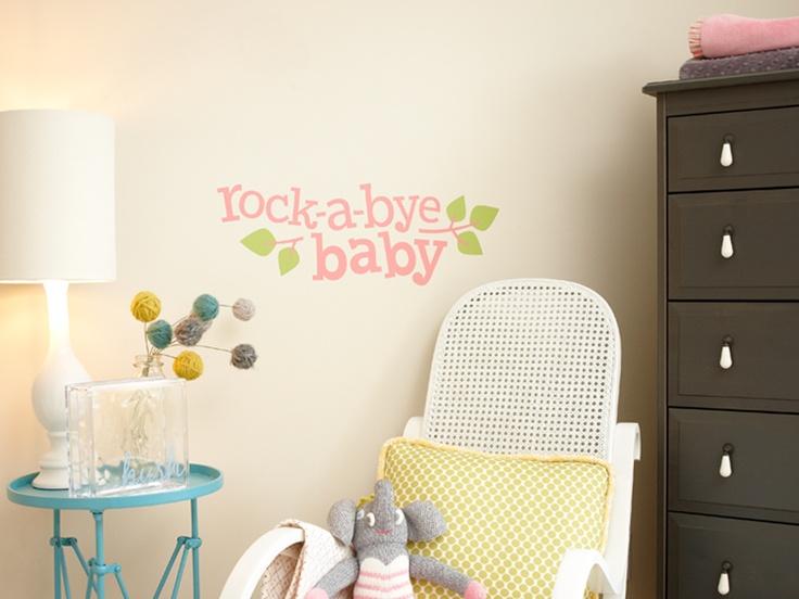 vinyl wall cling rockabye baby