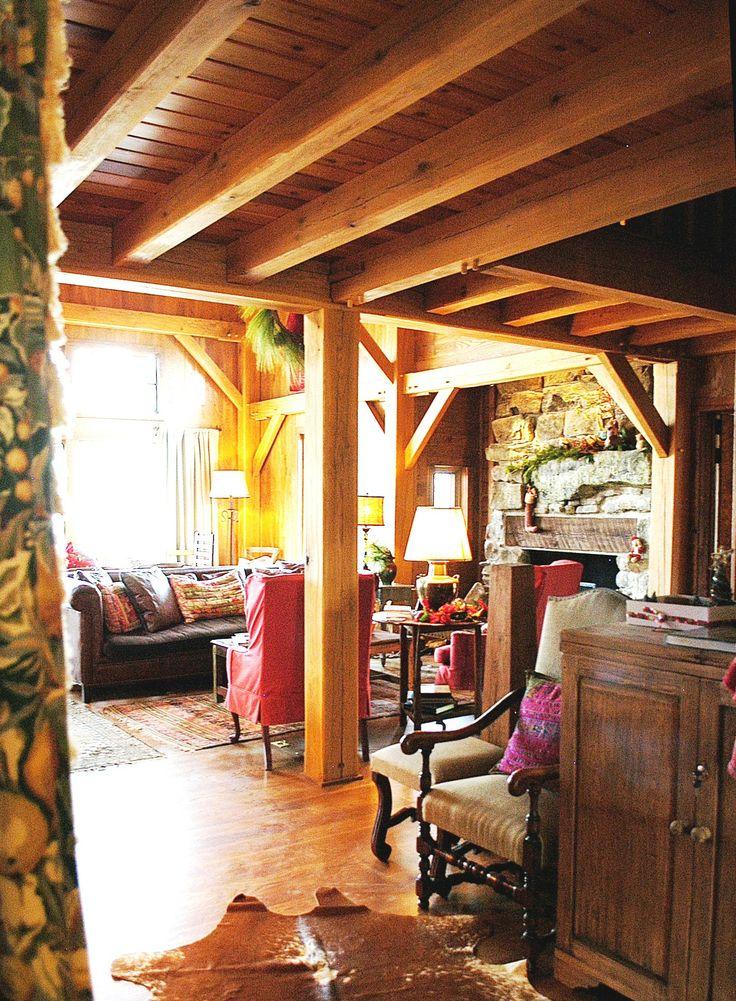 Wood Ceiling Beams - Timber Frame Ceiling Beams - Beamed Ceilings - Exposed Beam Ceiling - Solid Wood Beams - Homestead Timber Frames - Crossville Tennessee