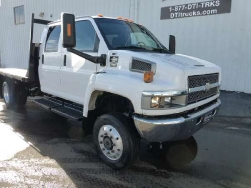 2006 Chevrolet C5500 Flatbed Truck, Duramax 6.6L V-8 Turbo Diesel Engine With 300 HP, Allison 5 Speed Transmission, 4X4, Four Wheel Drive #truck http://equipmentready.com/