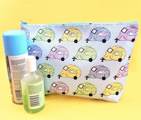 Caravan wash bag  waterproof toiletry bag  caravan gift
