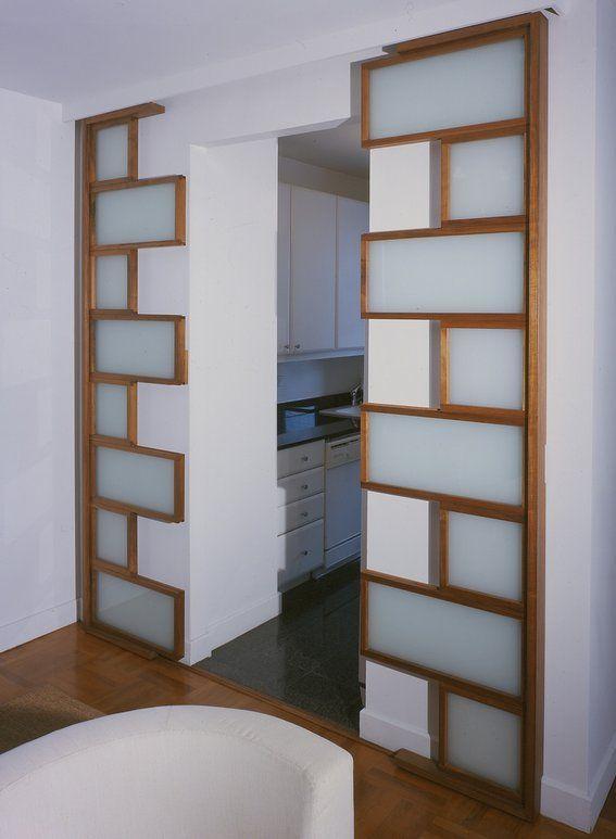 Double sliding doors interior