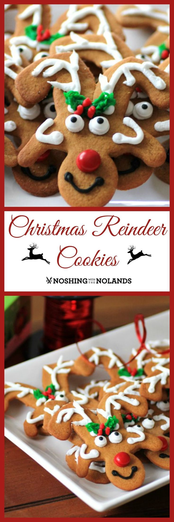 Welcome to Day #2 of Christmas Week and I give you Reindeer Cookies. This is a multi-blogger event co-hosted by Kim of Cravings of a Lunatic and Jen from Juanita's Cocina!