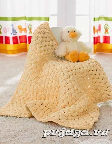 Вязание одеяла для новорожденных