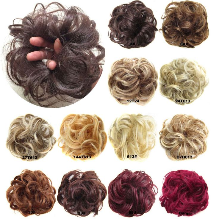 Women Wave Curly  Synthetic Flexible Scrunchie Wrap For Hair Bun Ponytails Hair Accessories Q5-2