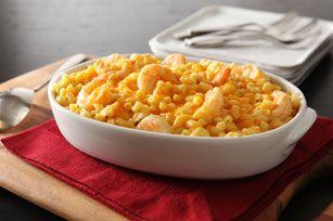 Macaroni & Cheese with Garlic Shrimp
