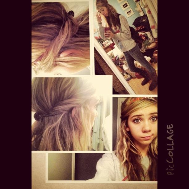 Hair tucked in headband | Hairstyles