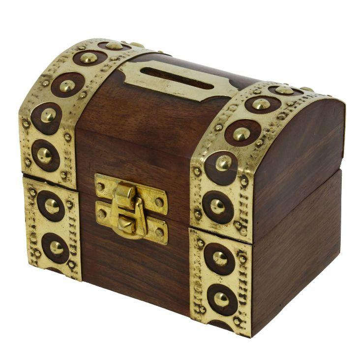 De inspiración antigua, Caja de seguridad Caja Piggy Bank Juguetes de madera y caza: Amazon.es: Juguetes y juegos
