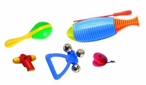 Musical Toys HO600 Samba Party Set by HOHNER. $16.23. From the Manufacturer                This colorful set contains versions of traditional Latin percussion instruments plus a free CD and perfect for an evening of family fun. Set of 5 pieces in a sturdy see thru carry bag.                                    Product Description                Kids love to play the samba instruments and dance to the CD with the samba beat! This colorful music set contains six durable versi...