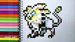 Solgaleo En Pixel Art Pixel Art Enfant