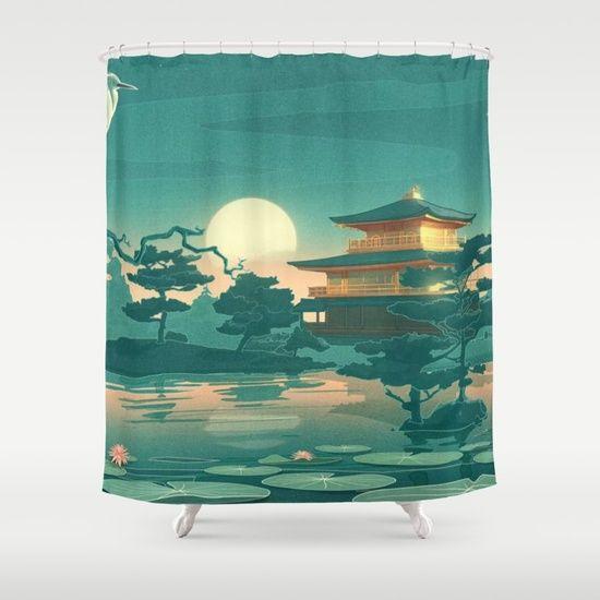 Birds Ocean House Shower Curtain