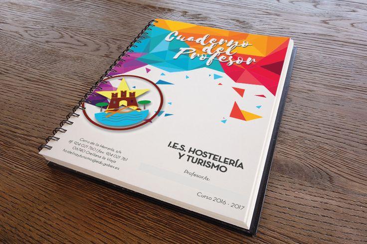 Diseño de la libreta para profesores del IES Hostelería y Turismo de Orellana