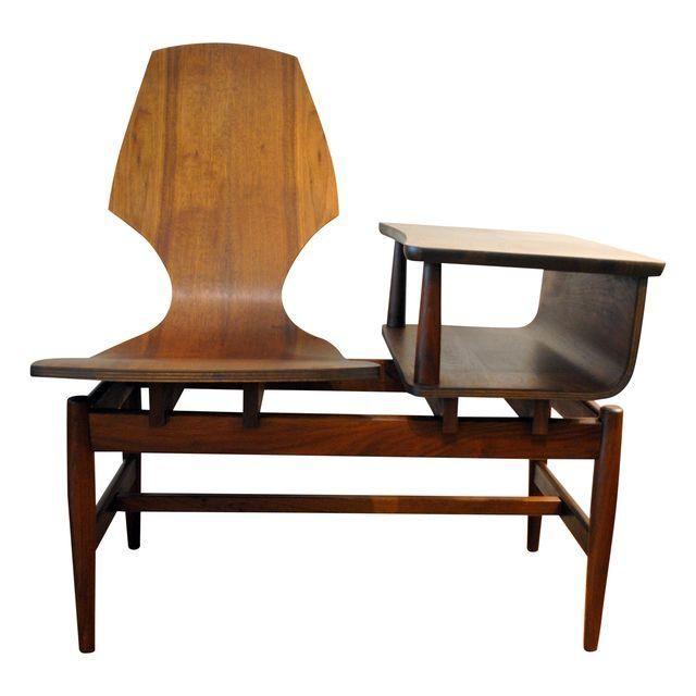 Image of Mid-Century Modern Plycraft Gossip Bench