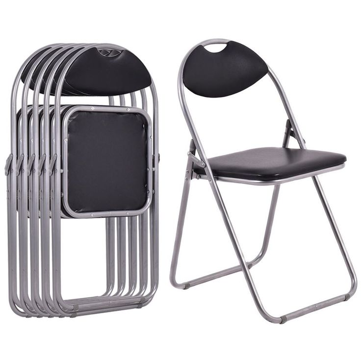 Black Outdoor Camping Seats Home Furniture Portable Folding Picnic Chairs Set #Goplus