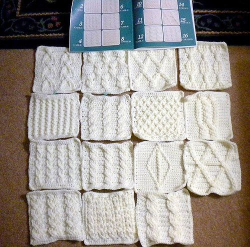 """crochet cable sampler afghan   From """"63 Crochet Cable Stitch…   Flickr"""