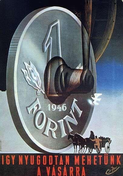 Konecsni György: Így nyugodtan mehetünk a vásárra - plakát, 1946