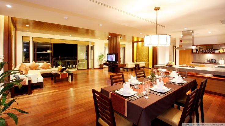 Spacious Dining Room Design  is a fantastic HD wallpaper for your PC or Mac and is available in high definition resolutions.