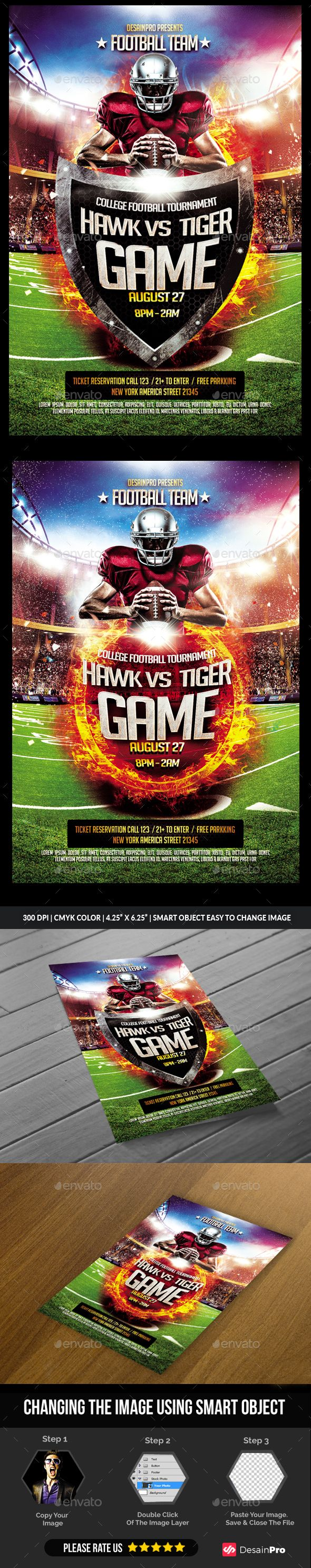Football Flyer Template PSD - Sports Events