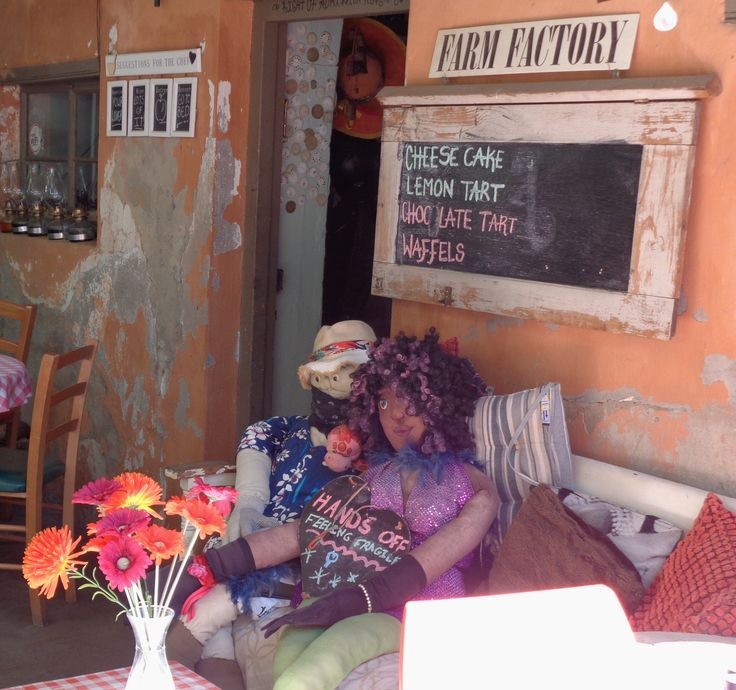 Colourful coffee shop in Riebeeck Kasteel