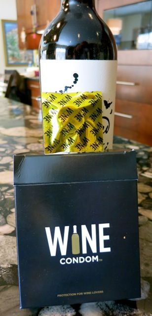 "Wine Condom - This is a ""wine stopper with a funny name"" and works like a charm."