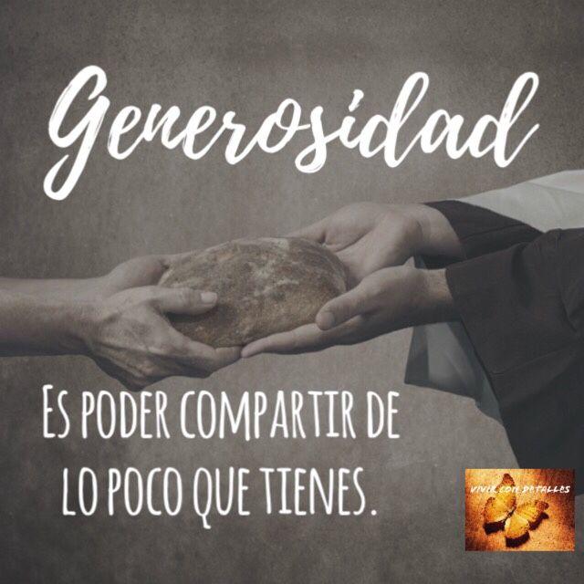 Generosidad – detalles para ti