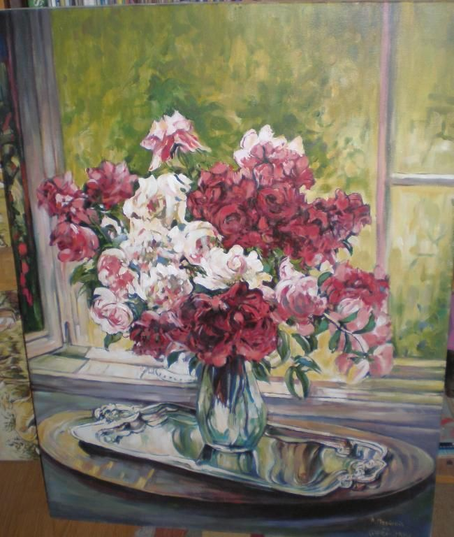 """Kopia obrazu Claude Moneta """"Kwiaty"""""""