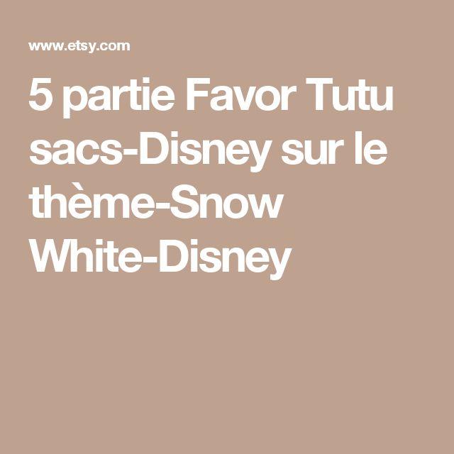 5 partie Favor Tutu sacs-Disney sur le thème-Snow White-Disney