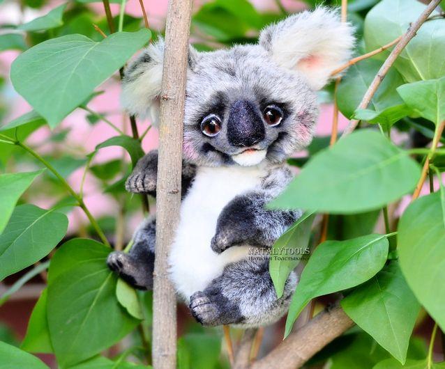 OOAK Koala teddy toy by Natalytools.ru Natalia Tolstykina