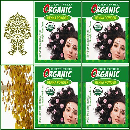 (Qty. 4) 100g Certified Organic Henna Powder for Hair Color Conditioning. Golden Brown Color. - http://essential-organic.com/qty-4-100g-certified-organic-henna-powder-for-hair-color-conditioning-golden-brown-color/