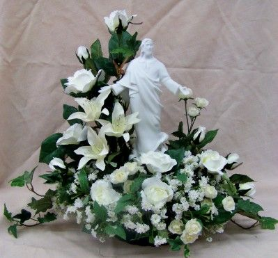 unique funeral flowers | ... flower arrangement in white. For local delivery in the Clark South