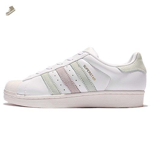 adidas Superstar W Womens Trainers White Green - 6 UK - Adidas sneakers for  women (