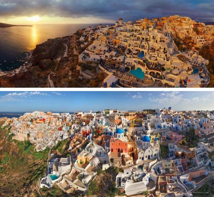 Oia Santorin en Grèce