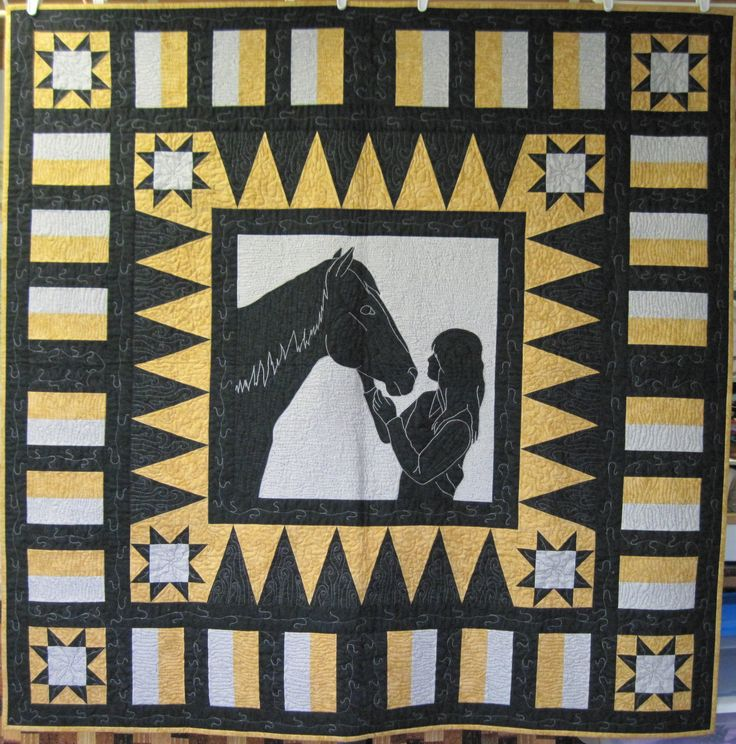 Best Friends Western Quilt - designed & made this quilt for my Granddaughter. It's a picture of her & her horse.
